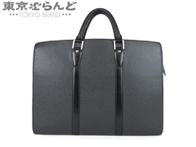 1円 ヴィトン タイガ ロザン ビジネスバッグ 黒 難有