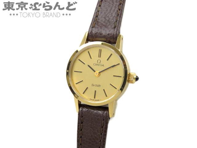 1円 オメガ デビル レディース腕時計 ゴールド 手巻