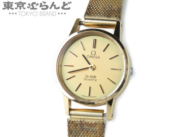 1円 オメガ デビル レディース腕時計 ゴールド QZ