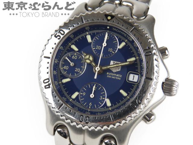 1円タグホイヤーセルプロ メンズ腕時計CG2111クロノ紺