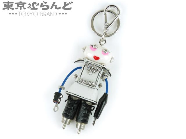 プラダ キーホルダー キーリングロボット レザー 1