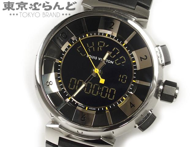 1円 ヴィトン タンブール インブラック Q118F腕時計