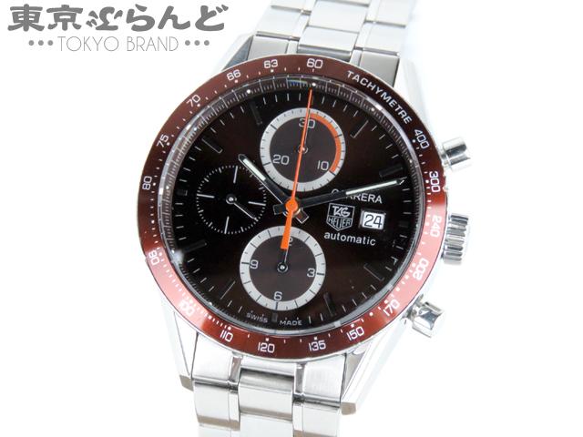 1円 タグホイヤー ニューカレラ クロノ腕時計CV2013