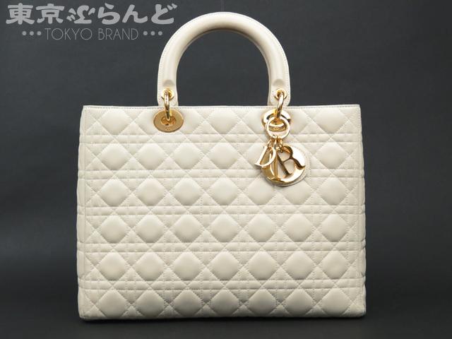 Dior レディディオール 2wayバッグ オフホワイト ラム