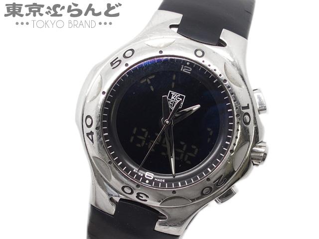 1円 タグホイヤー キリウム メンズ腕時計 Qz デジアナ