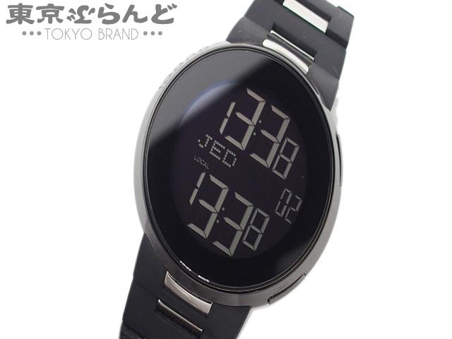 グッチ アイグッチデジタル腕時計 114-2 ラバーSS 5