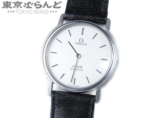 オメガ デビル  メンズ腕時計 アンティーク Qz SS