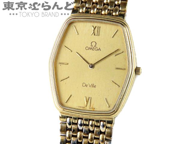1円 オメガ デビル メンズ 紳士腕時計 Qz ジャンク品