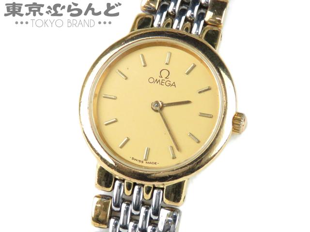 オメガ デビル レディース腕時計 Qz コンビ