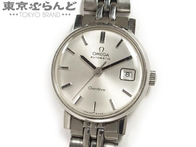 1円 オメガ ジュネーブ レディース腕時計 AT シルバー