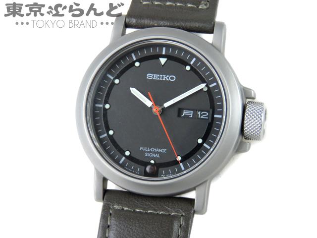 セイコー メンズ腕時計 手巻式充電Qz 8T23-8020 3